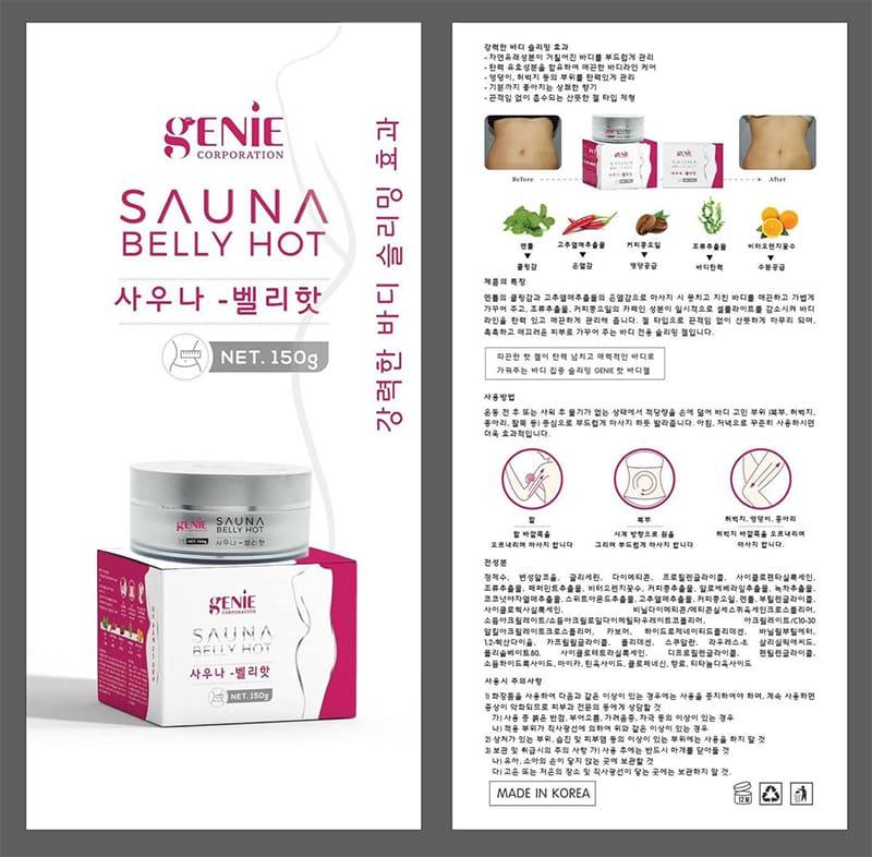 Gel Tan Mỡ Genie Sauna Belly Hot